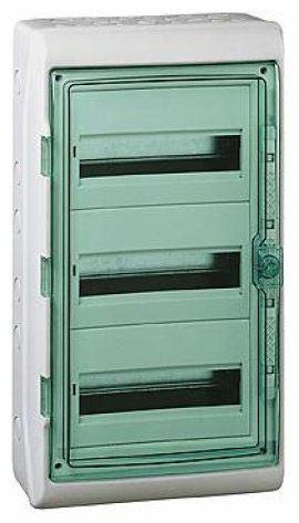 Навесной модульный шкаф Kaedra на 72 модуля, прозрачная дверь IP65 пылевлагозащищенный