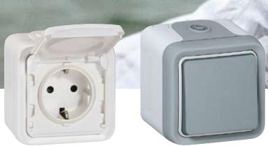 Катало Plexo / Электроустановочное оборудование для влажных и пыльных помещений, Legrand