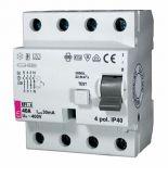 (2065143) Устройство защитного отключения  EFI6-4 40/0.5 2 полюса 40A 500мА AC. 10 кА. ETI