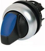 216851 M22-WRLK3-B. Трехпозиционная головка переключателя с клювиком. с фиксацией. с подсветкой.синий IP66. серия RMQ-Titan. Moeller an Eaton Brand