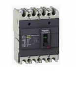 EZC100N4080 Автоматический выключатель EZC100N. Iн = 80 Ампер. 380В. 4 полюса. 15 кА. серии Easypact. Schneider Electric