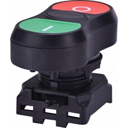 (4771390) Двойная кнопка <on/off> EGT-C. без подсветки. ETI