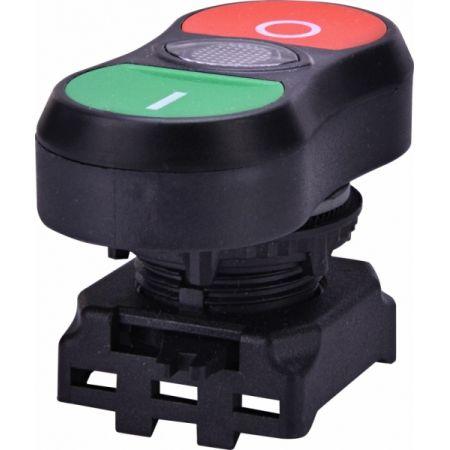 (4771393) Двойная кнопка <on/off> EGTI-S (бесцветный). с подсветкой. ETI
