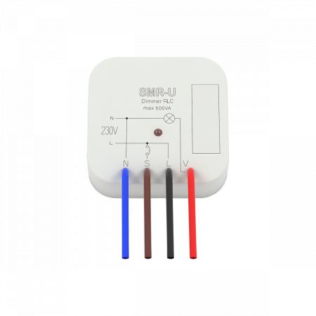 (SMR-S/230V) Регулятор света SMR-S/230V. AC 230 V. вариант для монтажа в уст. коробку. нажатие на кнопку дает возможность плавно регулировать освещение. 300VA. ELKO