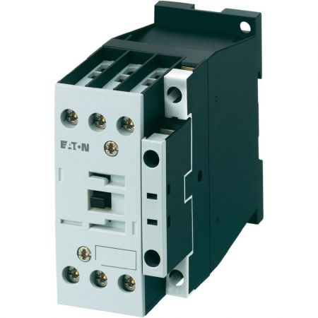112428 Контактор DILM38-10(230V50HZ). Iном = 38 A. 18.5 кВт. 1 NO. Eaton