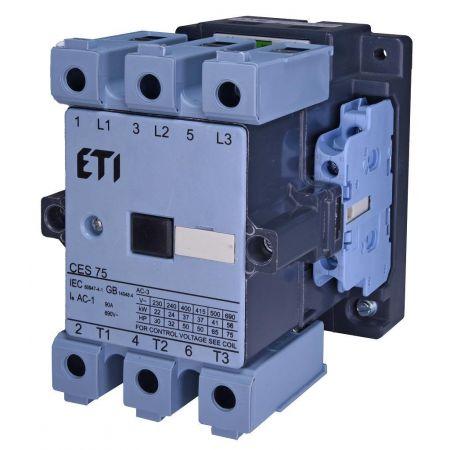4646563 Контактор CES 75.22. Iном =75 A. 37 кВт. Uкат.=220 В ~ 50 Гц. ETI