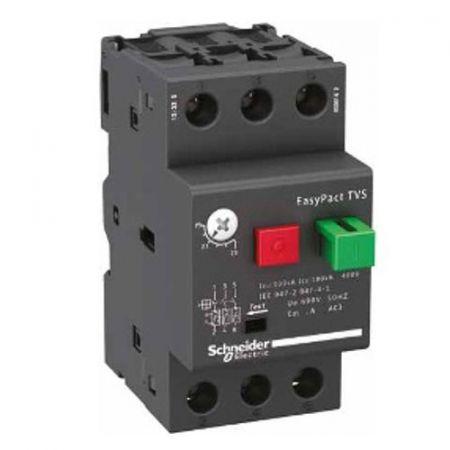 (GZ1E10) Автоматический выключатель защиты двигателя Easypact TVS. Ir = 4-6.3 Aмпер. Schneider Electric