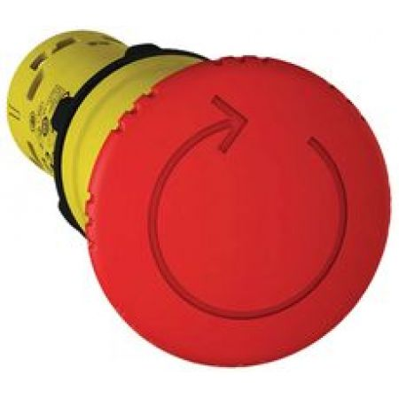 XB7NS8445. Грибовидная кнопка аварийного останова в сборе типа. разблокирование поворотом. красная. 1NO+1 NC. IP65. серия Harmony XB7 пластик. Schneider Electric