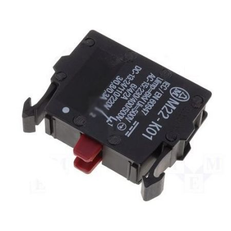 216378 M22-K01. Контактный элемент 1NC для установления на переднюю панель серия RMQ-Titan. Moeller an Eaton Brand