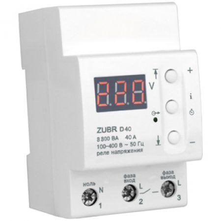 ZUBR D40 Однофазное реле защиты от перенапряжения ZUBR D40