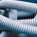 91916 (91916) Гофрированная труба ПВХ d16. внутренний диаметр 10.7мм внешний диаметр 16мм. с протяжкой (легкая серия). бухта 100 м.п.. DKC