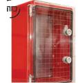 MD9153 Шкаф ударопрочный красный ABS 300х400х220 МП с прозрачной дверцей. IP65. Adal Pano