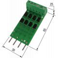 (ПДИ5-4) Плата подключения к дискретных входам ПЛК100/150/154 уровней TTL (0 ... 5 В) 4-канальная. OBEH