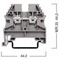 304130 Клемма для проводов винтовая на DIN-рейку 4 мм2 серая
