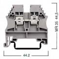 304140 Клемма для проводов винтовая на DIN-рейку 6 мм2 серая