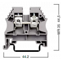 304150 Клемма для проводов винтовая на DIN-рейку 10 мм2 серая
