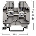 304160 Клемма для проводов винтовая на DIN-рейку 16 мм2 серая