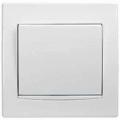 AYA0100321 Выключатель одноклавишный с белой вставкой Anya белый