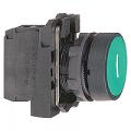 XB5AA3311. Невыступающая кнопка в сборе с самовозвратом c символом «I». зеленая.1 NO. IP66. серия Harmony XB5. Schneider Electric